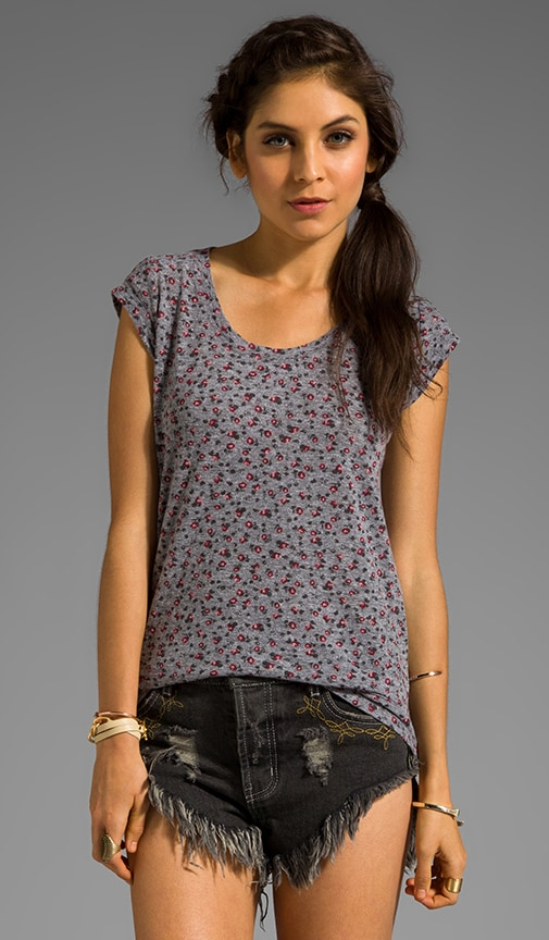 Ditsy Print Muscle Tee