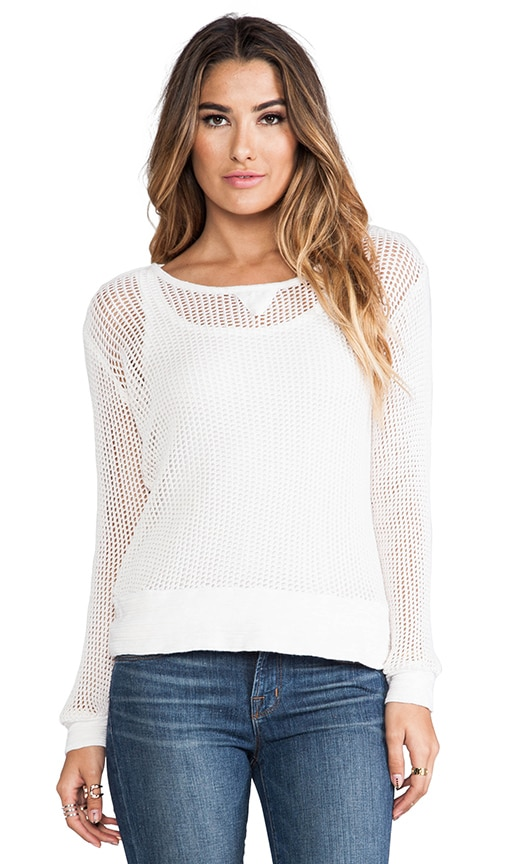 Cotton Mesh Sweater