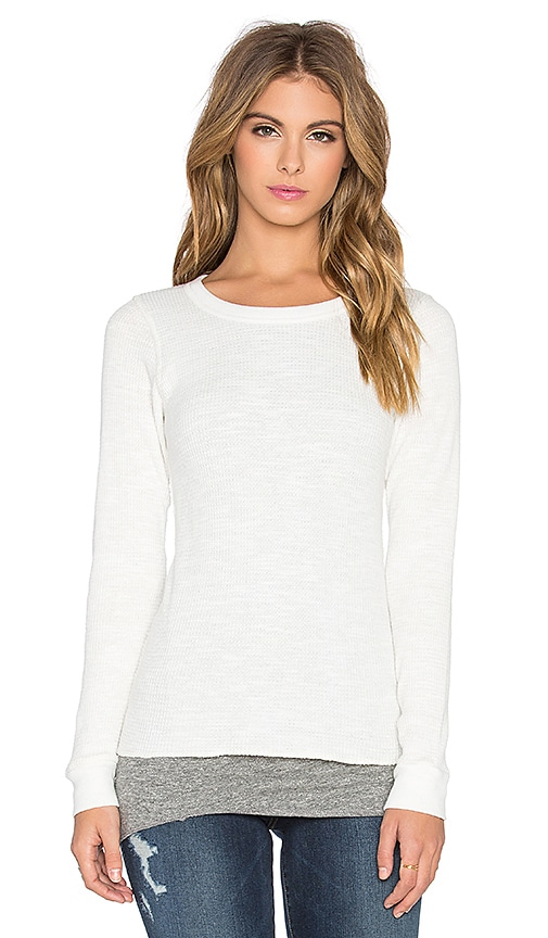 MONROW Double Layer Thermal Top in White