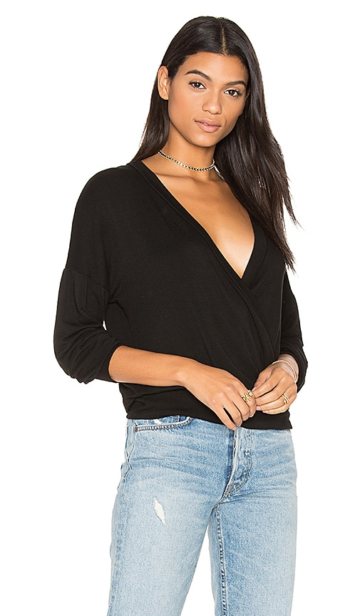 MONROW Crossover Top in Black