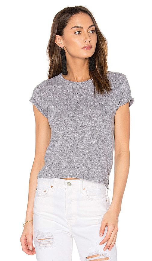 MONROW x REVOLVE Crop Tee in Gray