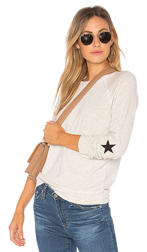 MONROW Star Raglan Sweatshirt in Gray