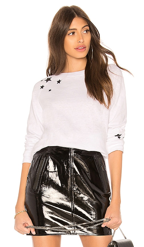 MONROW Star Sweatshirt in White