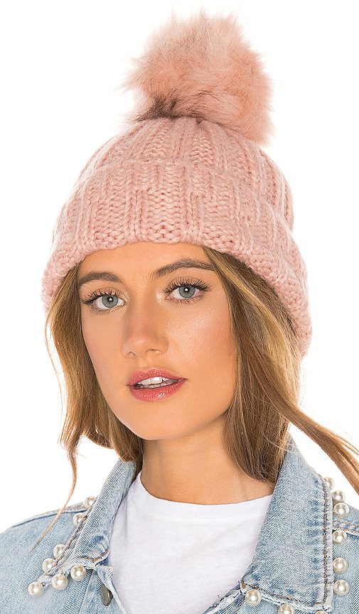 cc82f1a62 Hat Attack Slouchy Rib Beanie in Rose & Blush | REVOLVE