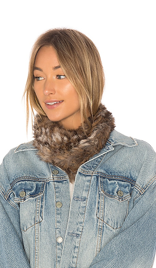 Hat Attack Luxe Rabbit Loop Scarf in Tan