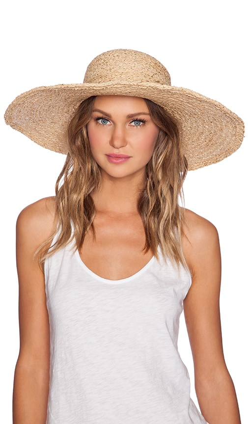 e5167720683 Hat Attack Metallic Sunhat in Natural Gold   Gold Leather