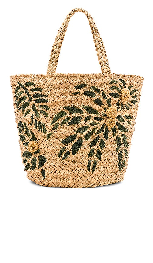 Hat Attack Painted Palm Tote in Beige