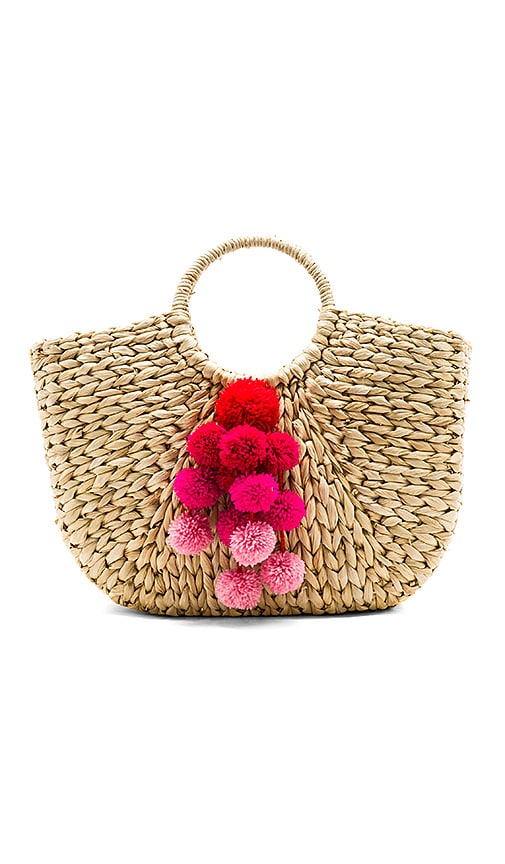 Hat Attack Round Handle Tote in Tan