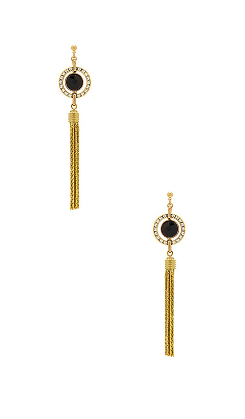 Haus Of Topper Tassel Earring in Metallic Gold