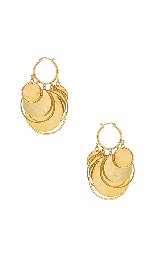 Haus Of Topper Coin Earrings in Metallic Gold