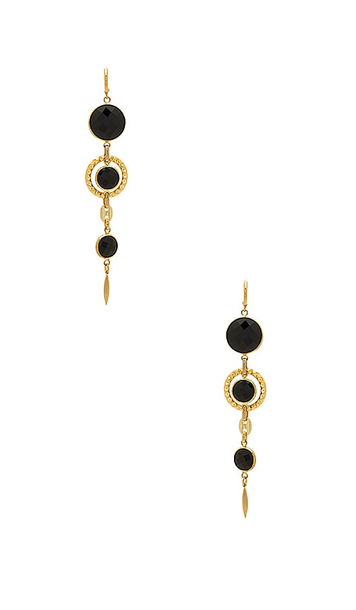 Haus Of Topper Stone Drop Earring in Metallic Gold