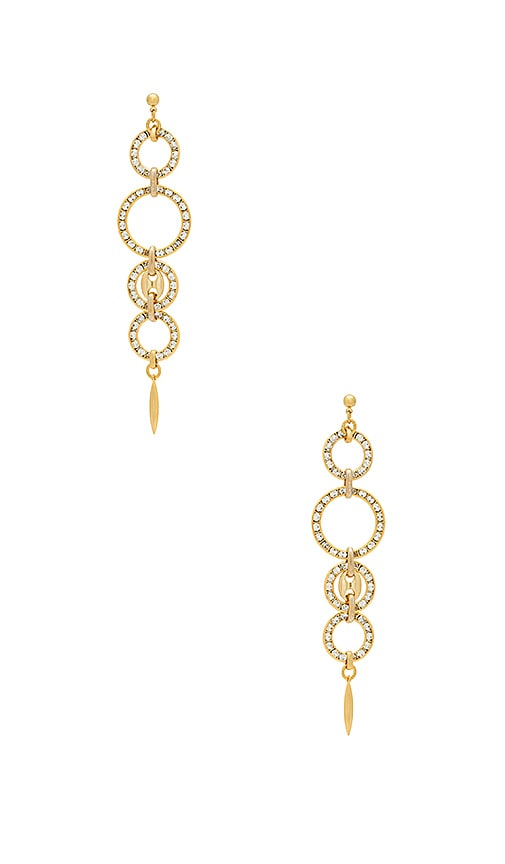 Haus Of Topper Linked Circle Earring in Metallic Gold