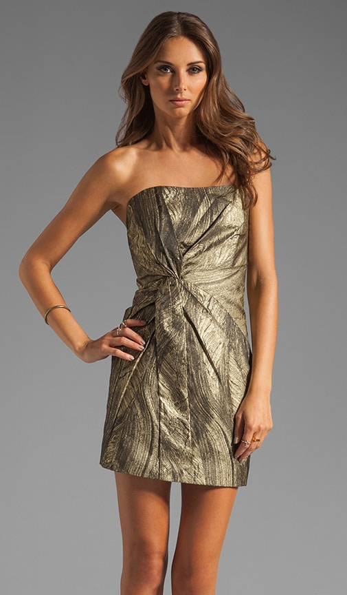 Twist Front Strapless Dress
