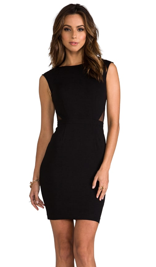 Dress with Deep V Back and Side Cut Outs