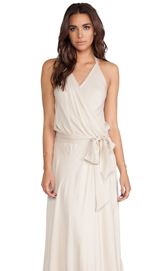 Faux Wrap Silk Gown