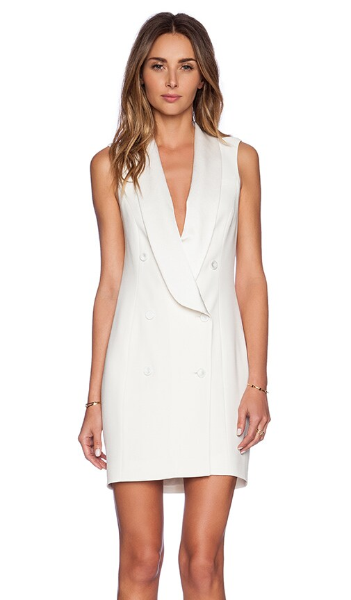 Short Sleeve Tux Dress