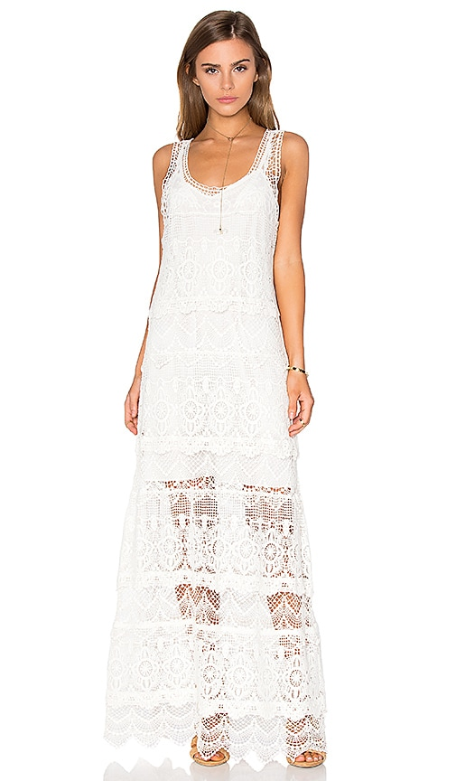 Haute Hippie The Lace Layers Dress in White