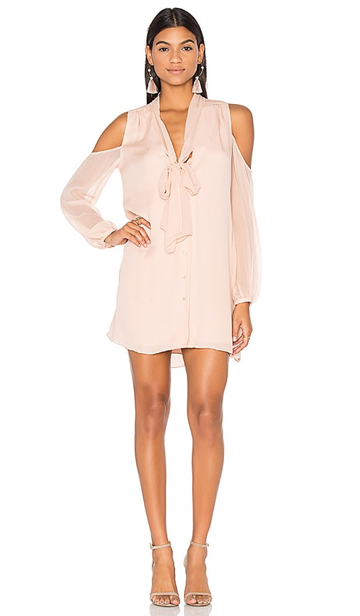 Haute Hippie Vida Cold Shoulder Dress in Pink