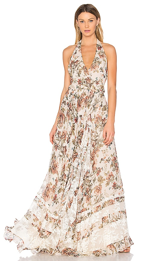 Haute Hippie Johnny Guitar Dress in Beige