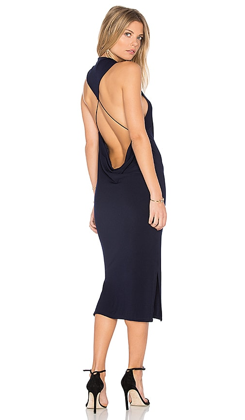 Haute Hippie Hold Me Tight Dress in Navy