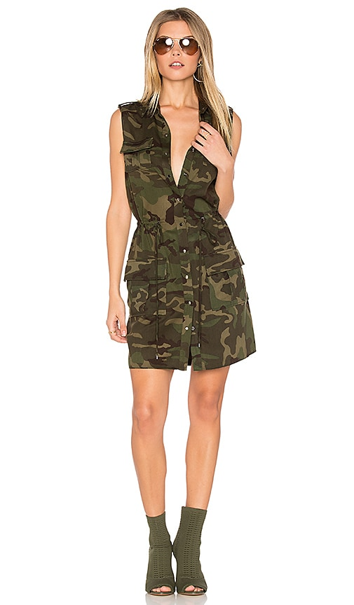 Haute Hippie The Safari Dress in Green