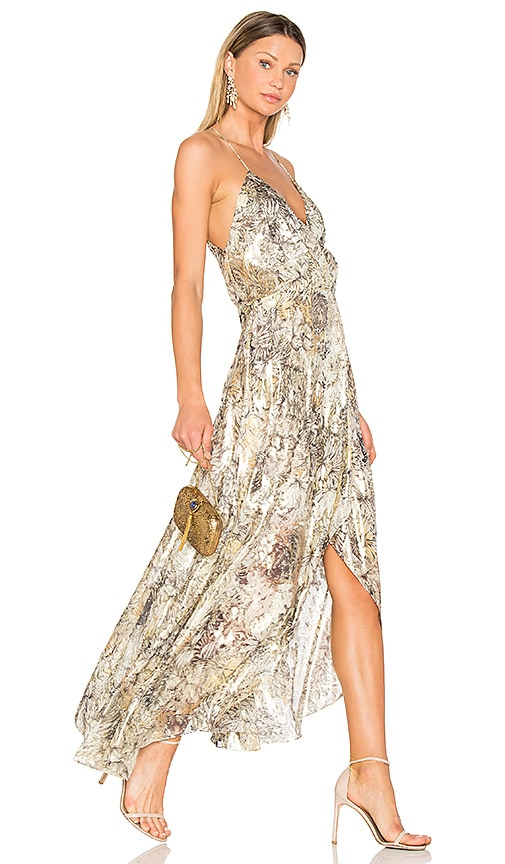 Haute Hippie Wish You Were Here Dress in Metallic Neutral