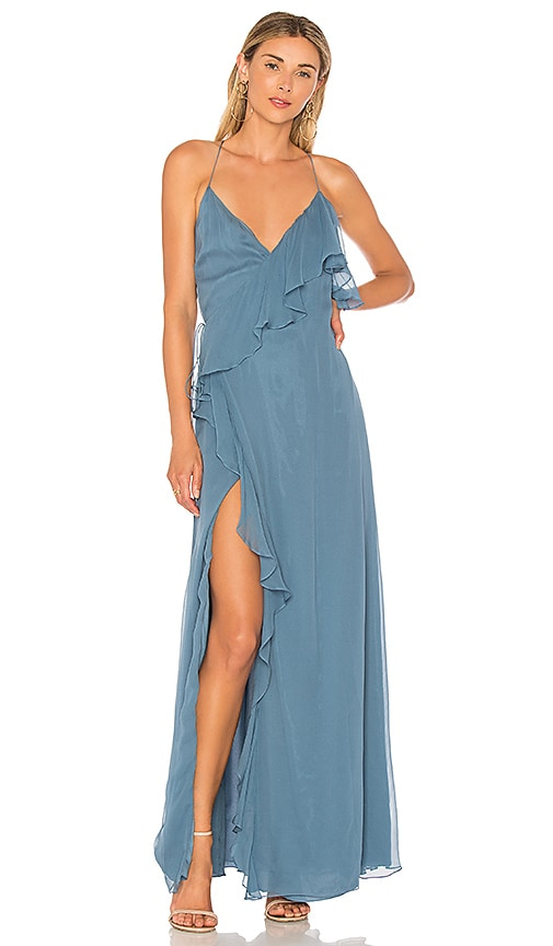 Haute Hippie Metamorphosis Wrap Dress in Blue