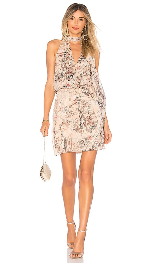 Haute Hippie Ginny Halter Mini Dress in Pink