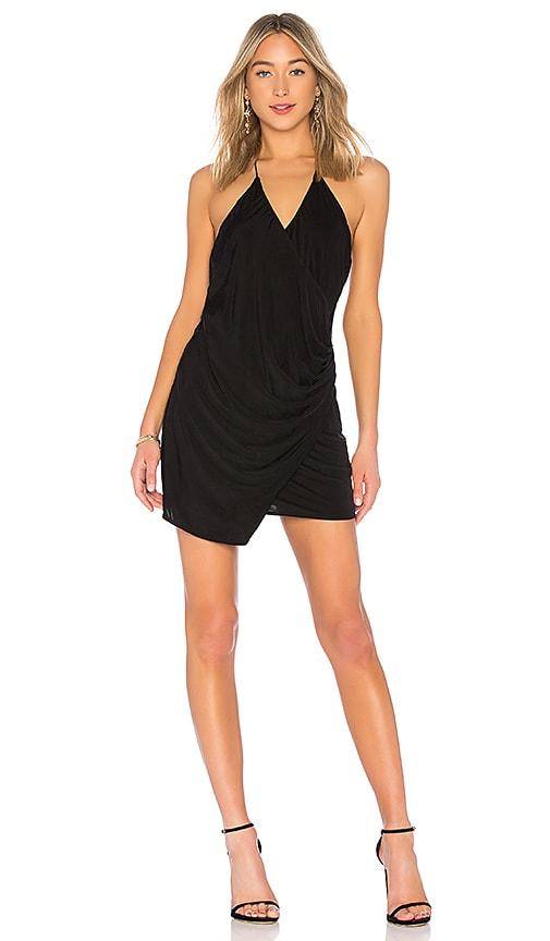 Haute Hippie Sidewinder Cowl Mini Dress in Black