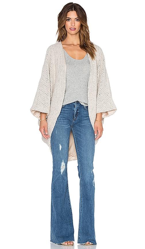 Haute Hippie Chunky Alpaca Cocoon Sweater in Fallen Angel