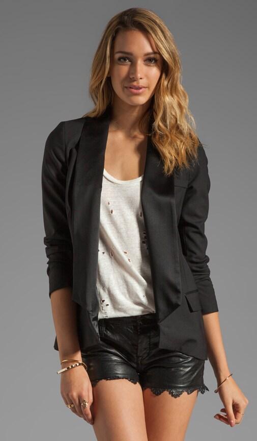 Jacket with Washed Lapel