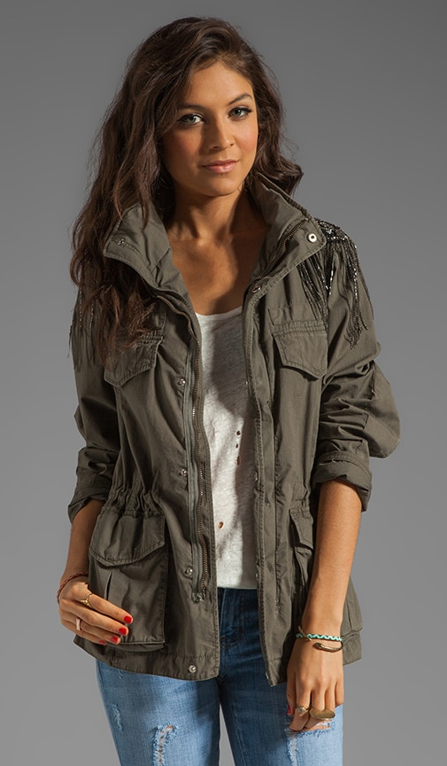 Haute Hippie Military Anorak Jacket