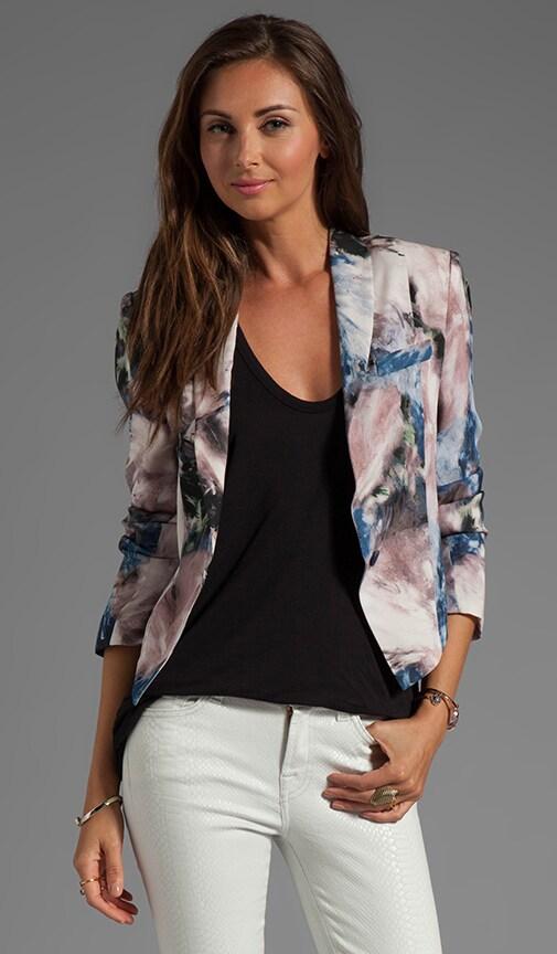 Moody Floral Silk Jacket