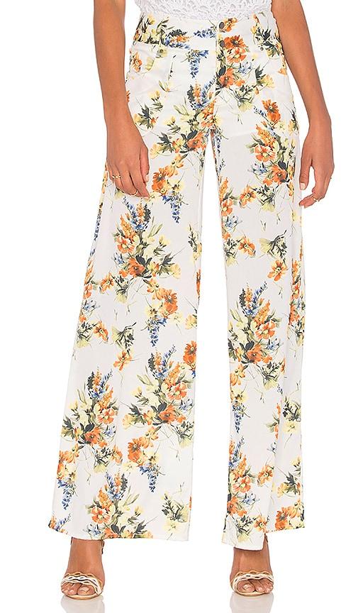 Haute Hippie Annie Wide Leg Pant in White
