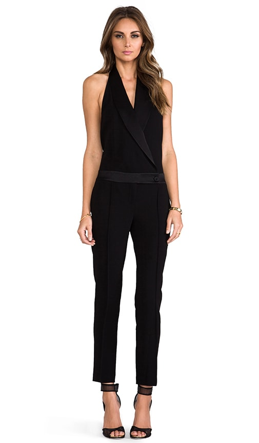 Tux Jumpsuit with Low Back