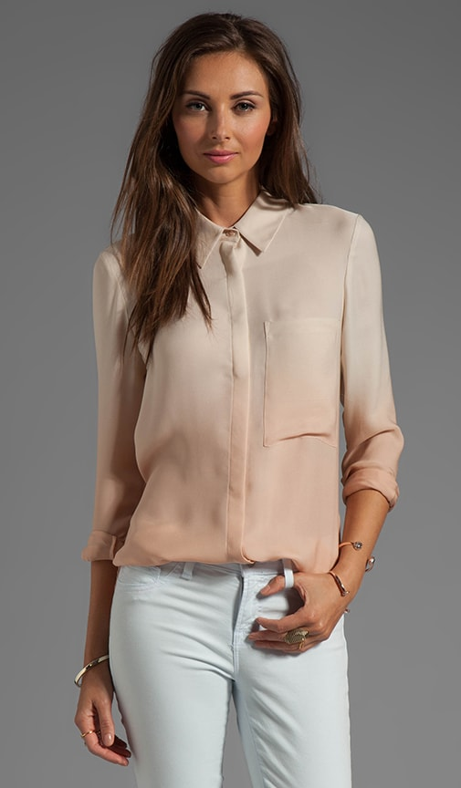 Button Down Ombre Blouse