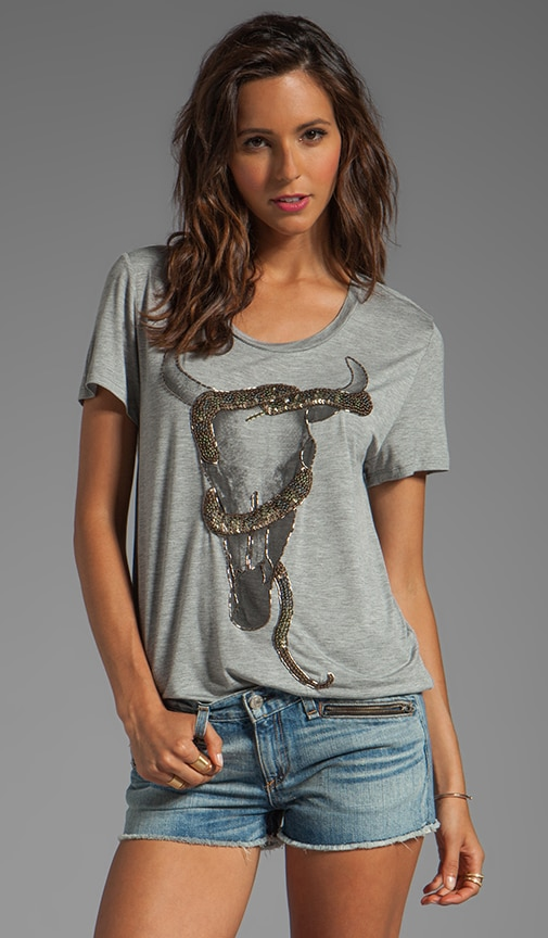 Longhorn with Snake Tee