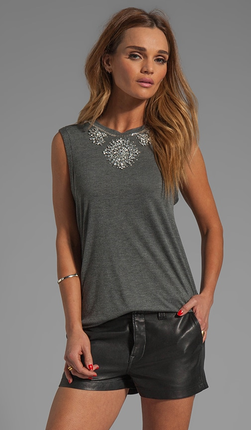 Embellished Muscle Tee
