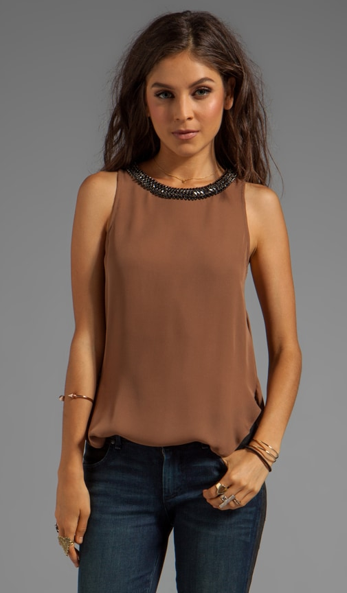 Blouse with Cowl Back