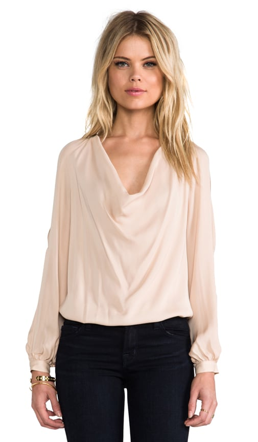 Open Shoulder Silk Blouse