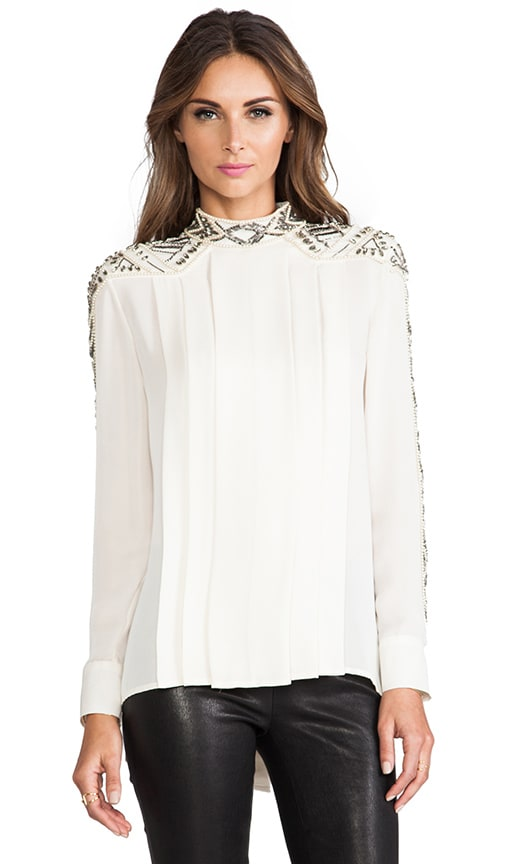 Embellished Pleated Blouse
