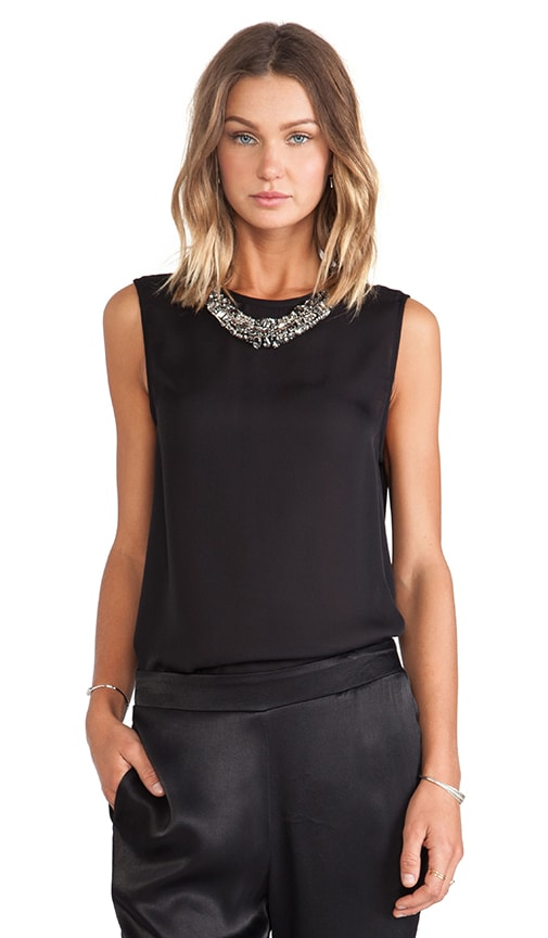 Sleeveless Blouse with Detachable Dickie