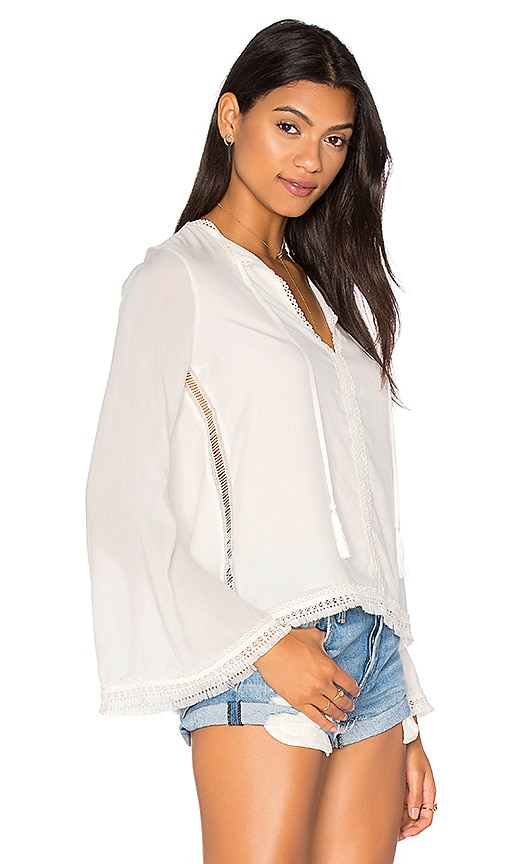 Haute Hippie The Daisy Blouse in White