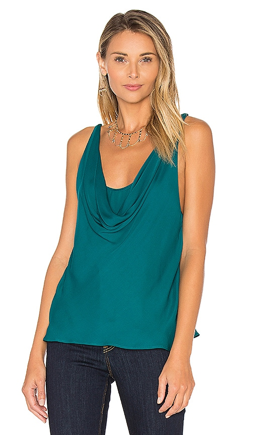 Haute Hippie The Morton Cowl Tank in Teal
