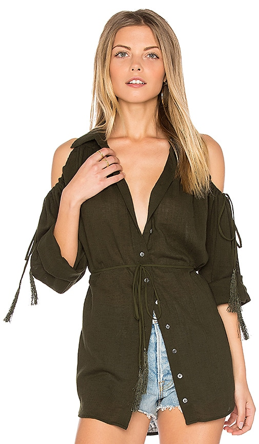 Haute Hippie Great Heights Tunic in Green
