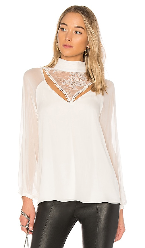 Haute Hippie Through The Looking Glass Blouse in Ivory
