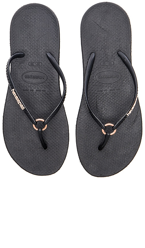 Havaianas Ring Flip Flop in Black