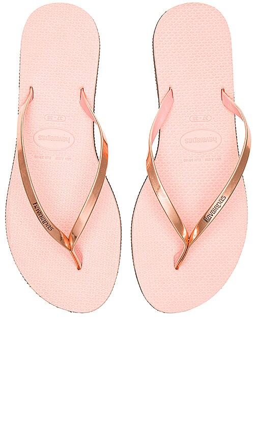 Havaianas You Metallic Flip Flop in Pink