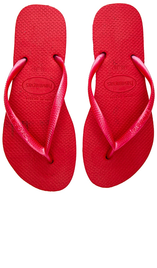 Havaianas Slim Flip Flop in Red