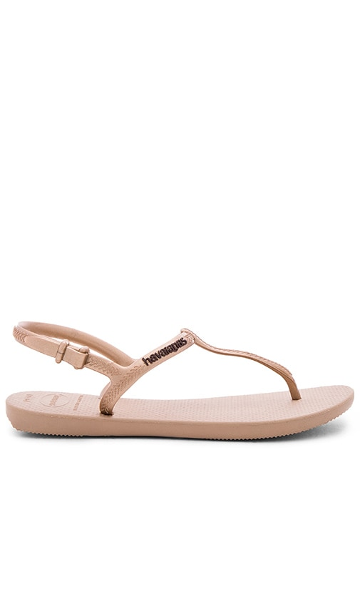 Havaianas Freedom Sandal in Metallic Bronze